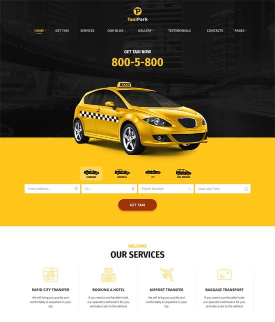 taxipark taxi company html5 template