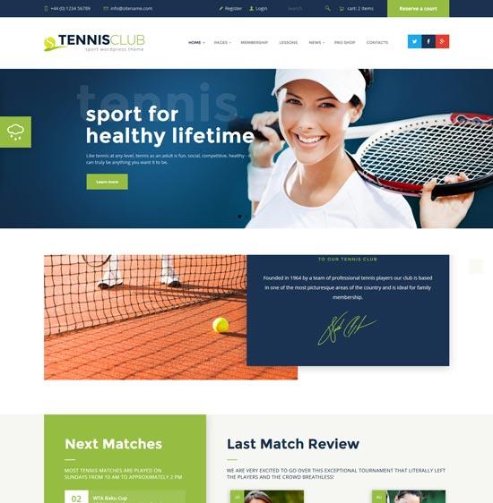 tennis-club-sports-site-template