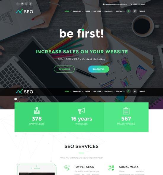 the seo web design WordPress theme
