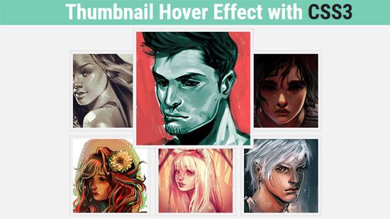thumbnail hover effect with css3