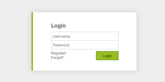 toggle login form