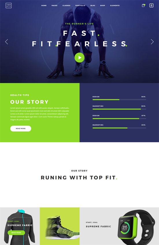 topfit fitness gym theme