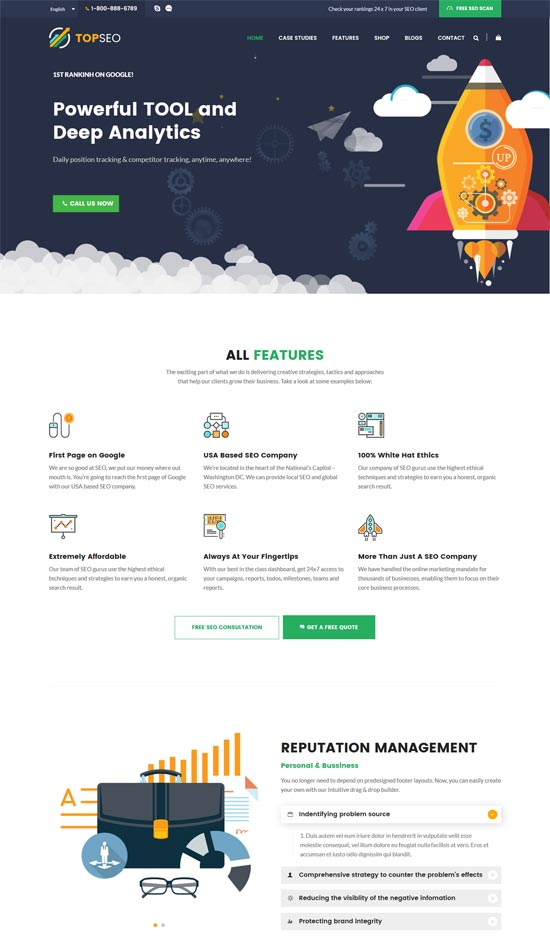 topseo seo digital marketing wordpress theme