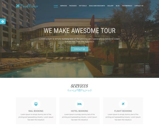tour maker travel agency html template