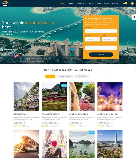 tour wp travel wordpress theme