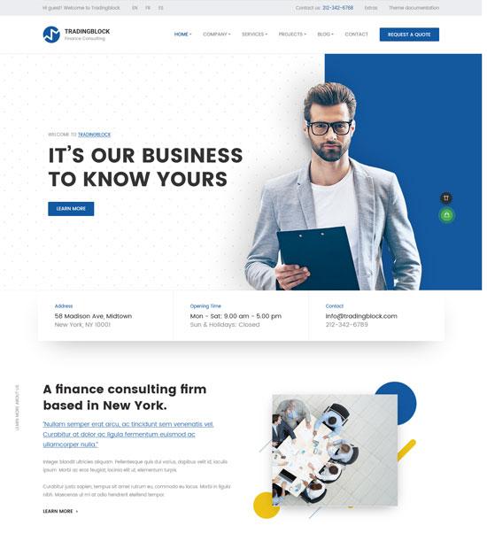 tradingblock finance business html template