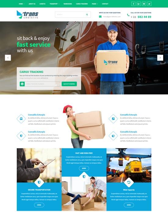 trans logistic cargo tracking WordPress theme