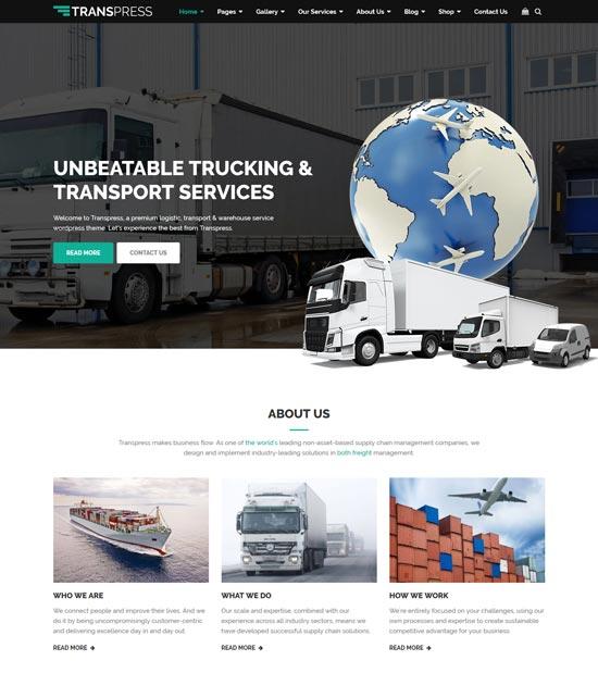 transpress transport WordPress theme
