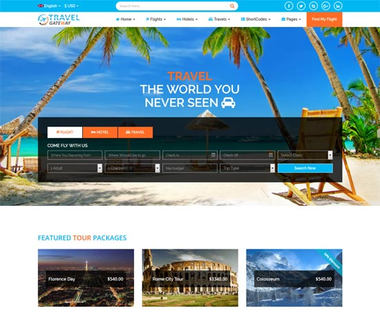 travel gateway travel agency html5 template