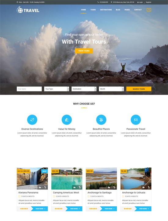 travel html tour operator template