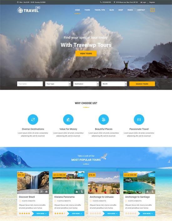 travel wp travel tour booking wordpress theme