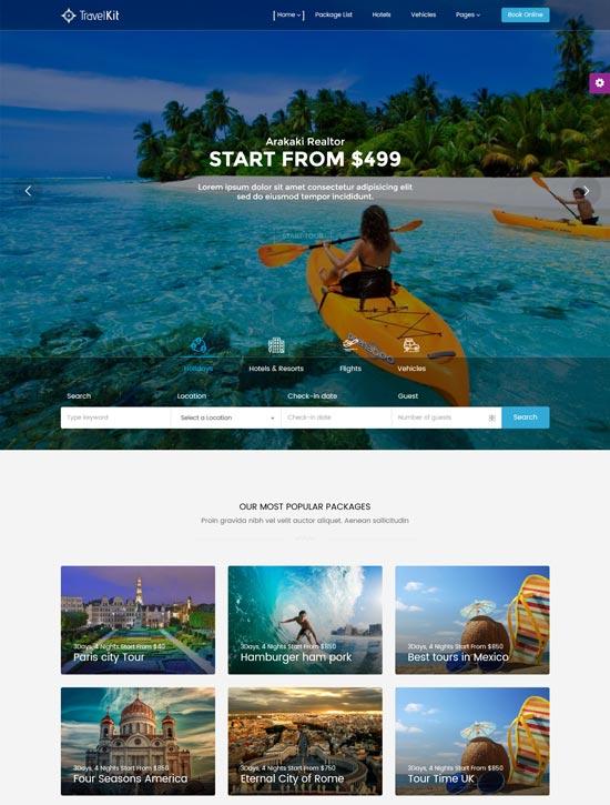 travelkit tour travel WordPress theme