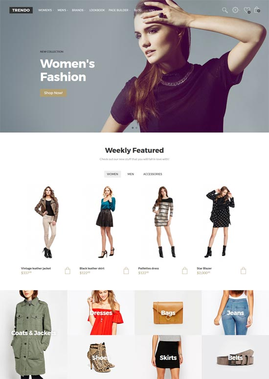 trendo fashion store opencart theme