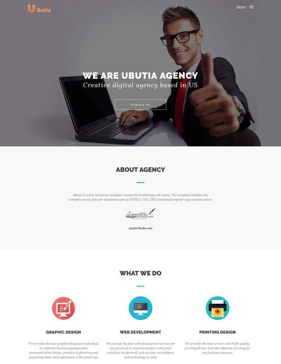 ubutia agency html5 template