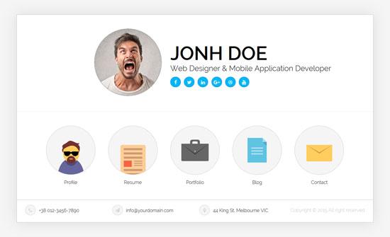 ukiecard personal vcard html template