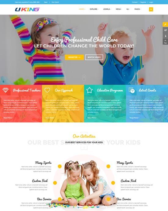 uking joomla kindergarten template