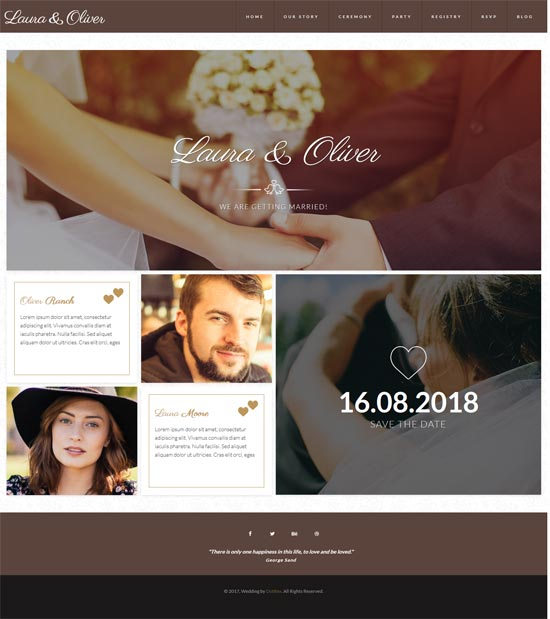 unione modern wedding html template
