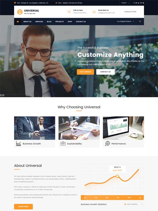 universal business consulting html template