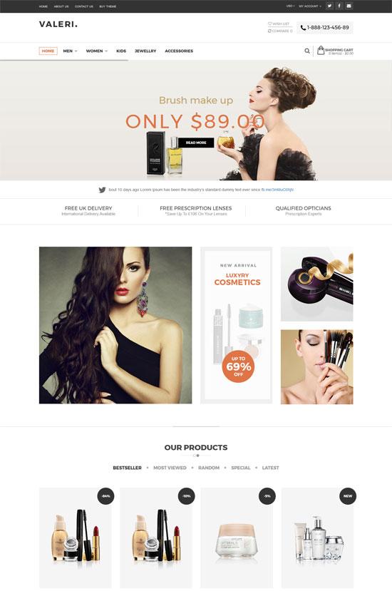 valeri beauty spa salons opencart theme