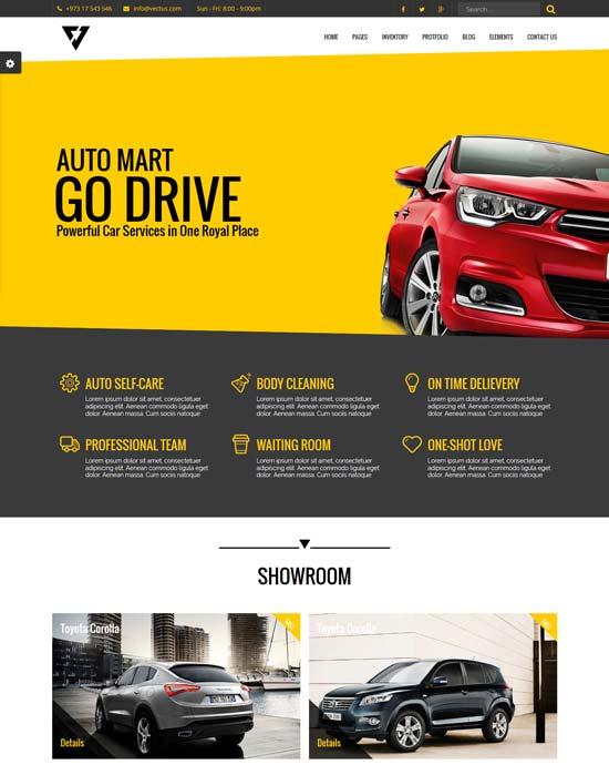 vectus car dealership html template