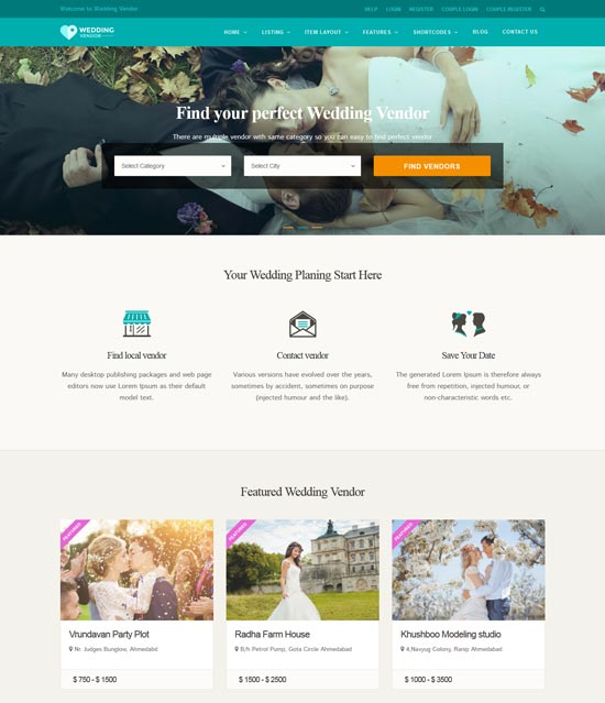 vendor directory WordPress theme