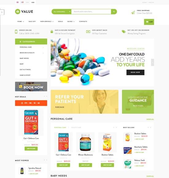 ves valuestore drug stores magento theme