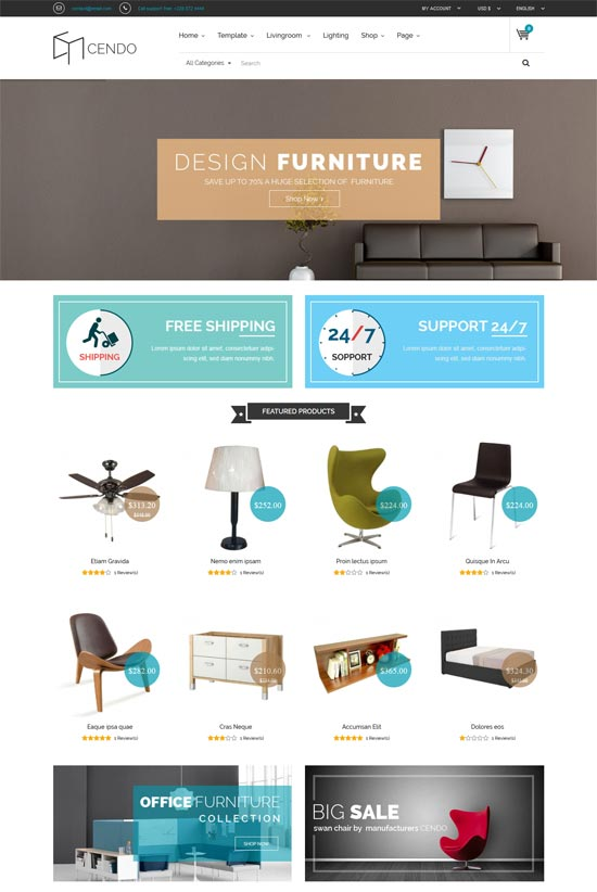 vina cendo furniture joomla virtuemart template