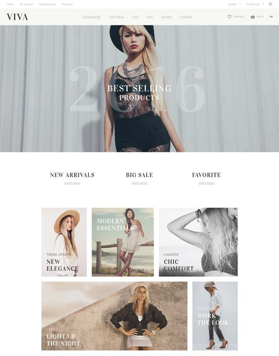 viva fashion opencart theme