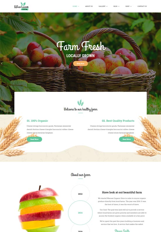 warsaw agriculture farm html template
