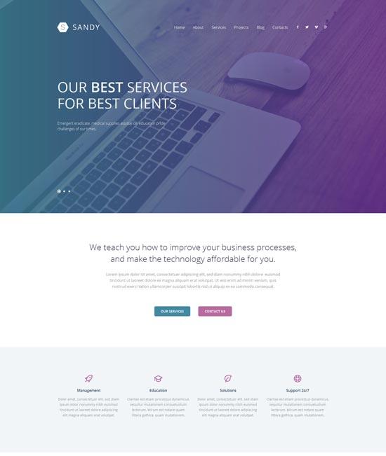 web design responsive theme 52603