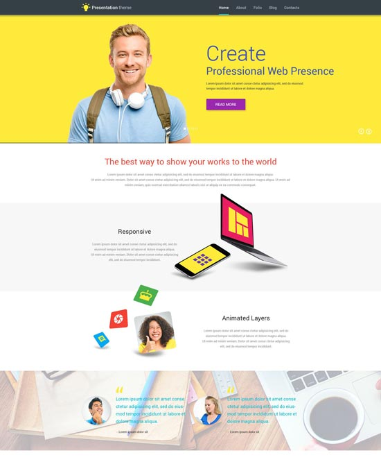 web design WordPress theme 53857