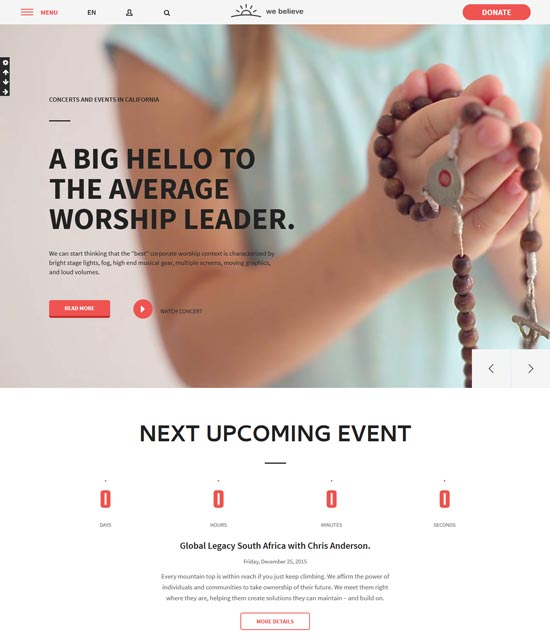 webelieve church responsive html5 template