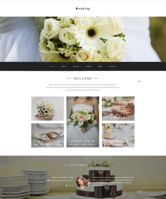 wedding store WordPress theme
