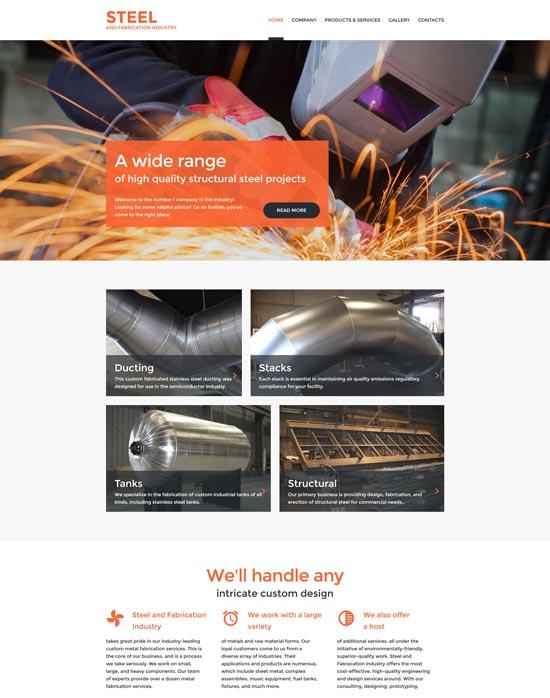 welding website template