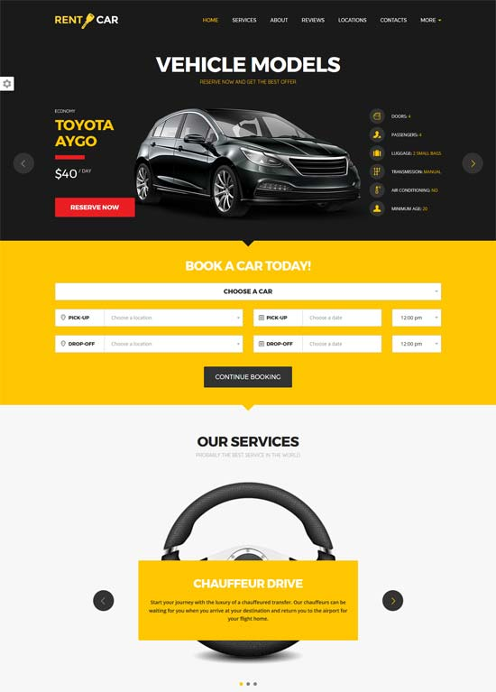 wheelsberry car rental wordpress theme