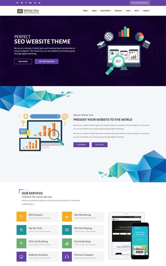 whitehat seo digital marketing wordpress theme