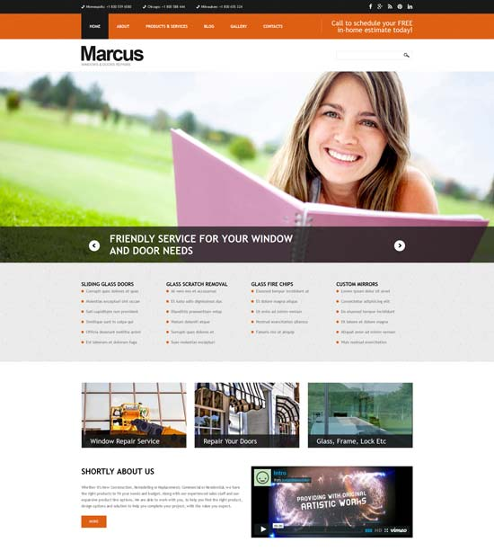 window door repairs joomla template