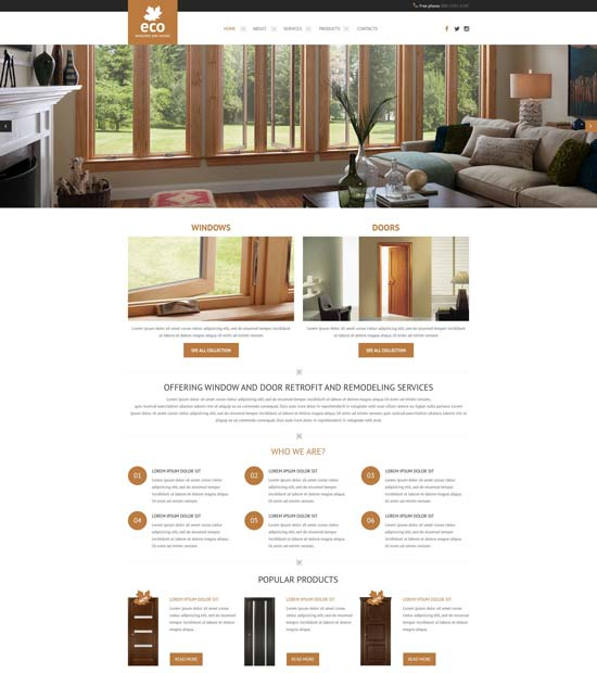 windows-doors-responsive-website-template