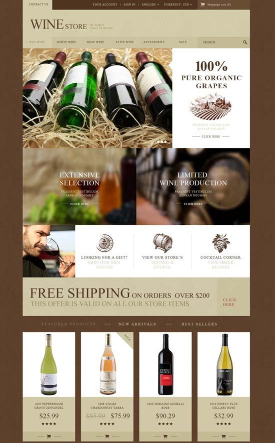 wine store prestashop theme 52821
