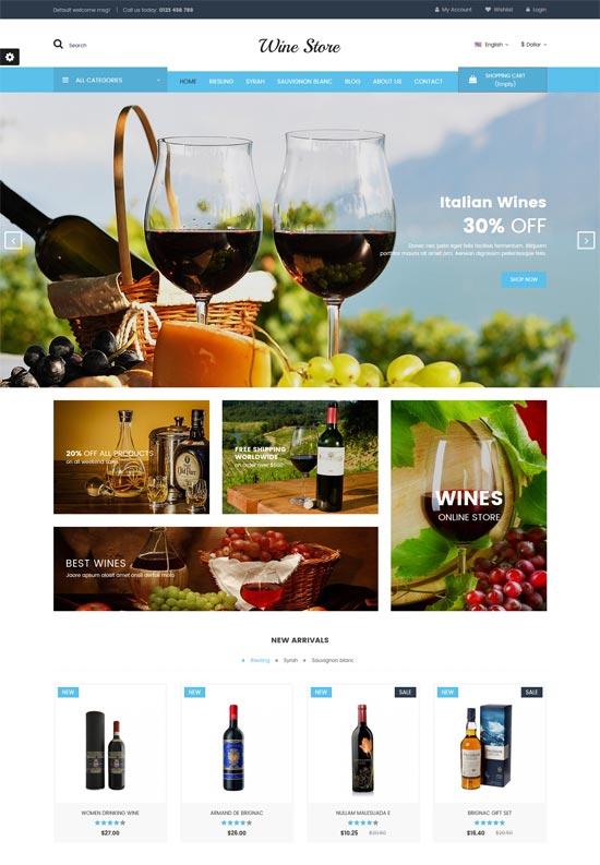 wine store responsive prestashop theme