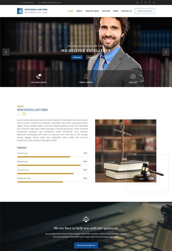 wisconsin lawyer agency html template
