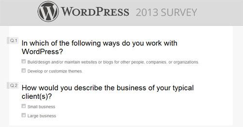 wordpress-CSS-survey-form