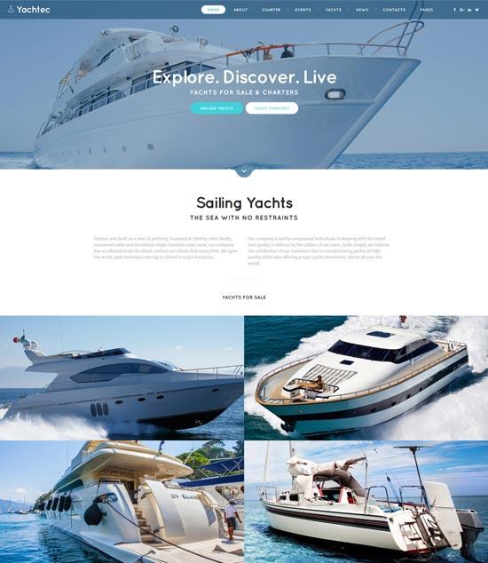 yachtec website template