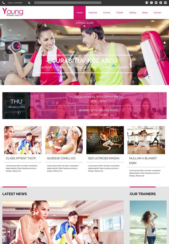 young fitness joomla template