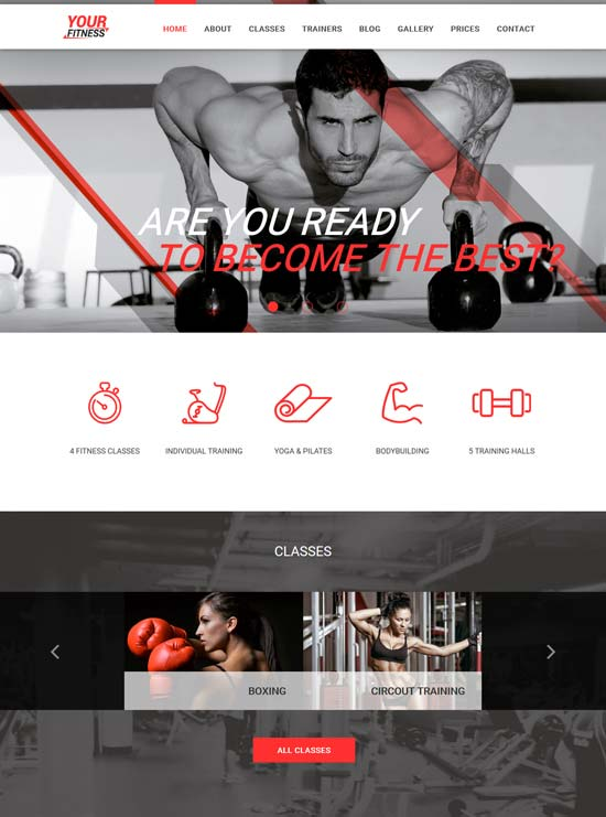 yourfitness fitness club gym joomla template