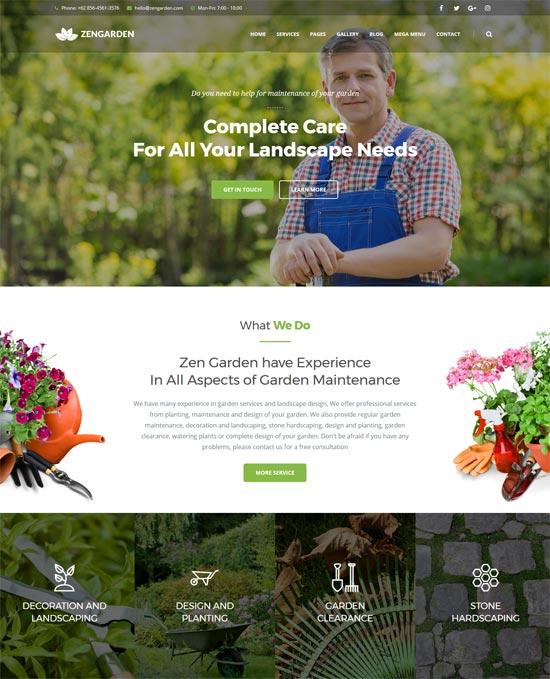 zen garden landscape html template