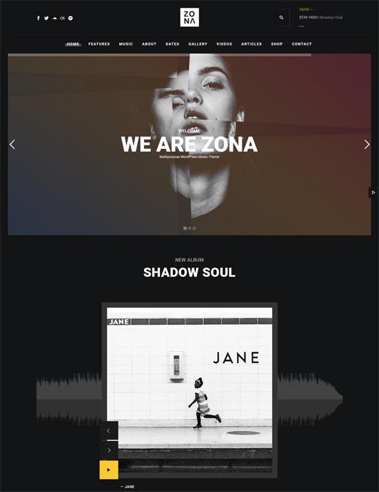 zona music theme wordpress