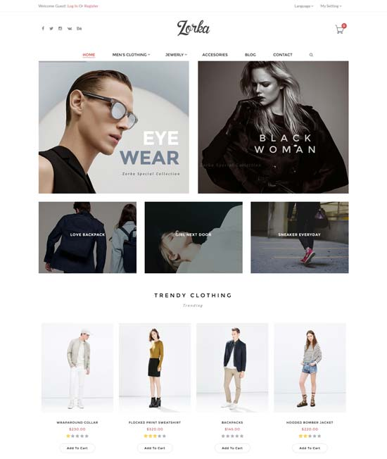 zorka fashion ecommerce magento themes