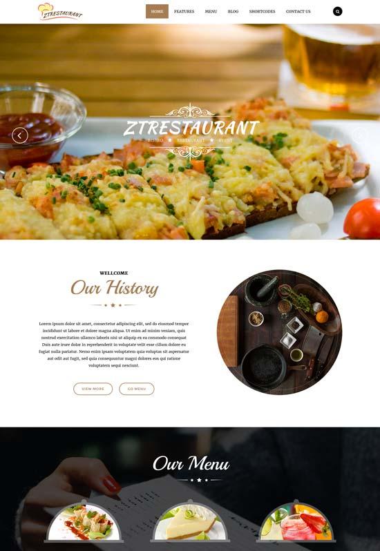 zt restaurant responsive joomla template