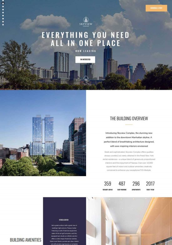 skyview complex single property wordpress theme